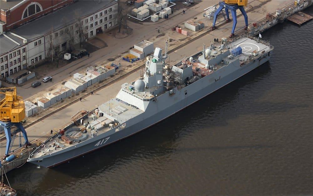 Rosja: druga fregata rakietowa projektu 22350 w przyszłym roku