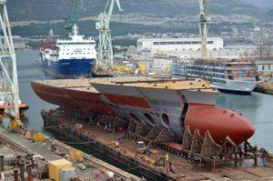 Brodosplit buduje bloki dla Fincantieri. Fot.: Brodosplit