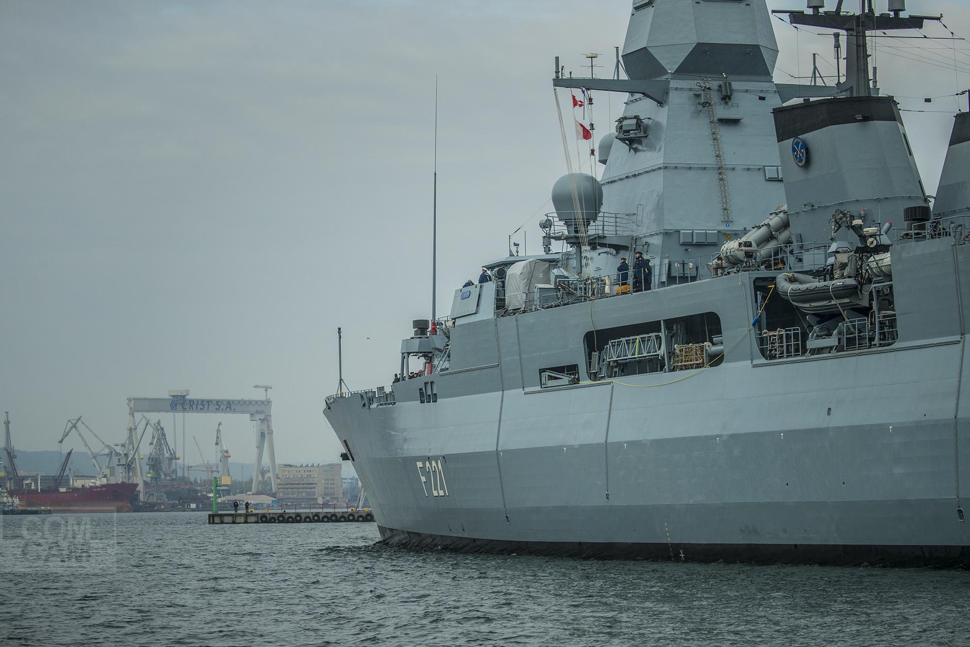 Niemiecka marynarka odwiedziła Polskę: fregata i okręt podwodny zawinęły do Gdyni