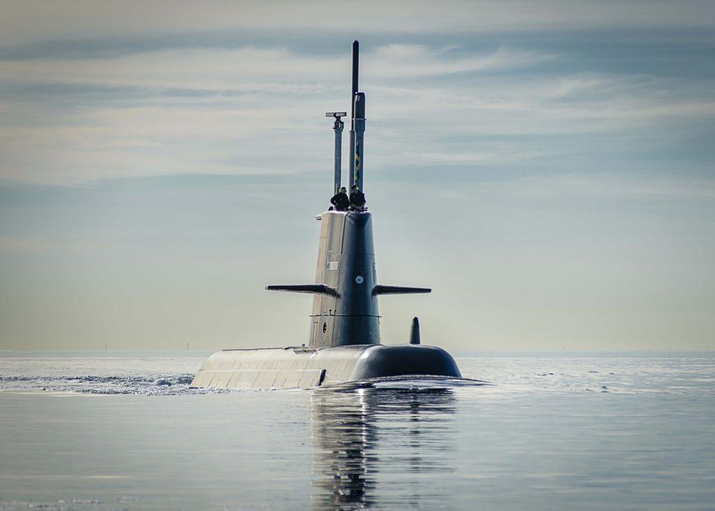 Zmodernizowany Gotland wychodzi w morze. Fot.: Saab