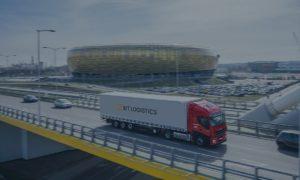 Samochód ciężarowy firmy BitLogistics w Gdańsku