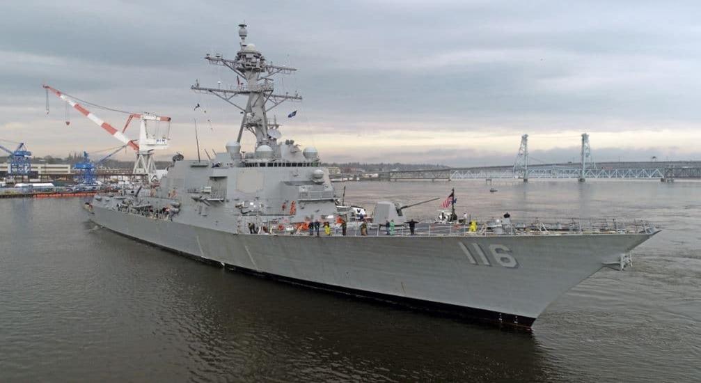 US Navy: pierwszy niszczyciel typu Arleigh Burke w wersji Flight IIA TI w służbie