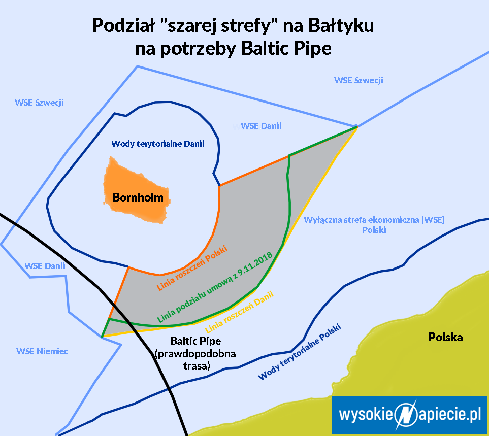 Baltic Pipe: jak Warszawa i Kopenhaga podzieliły kawałek Bałtyku? 80 proc. obszaru dla Danii