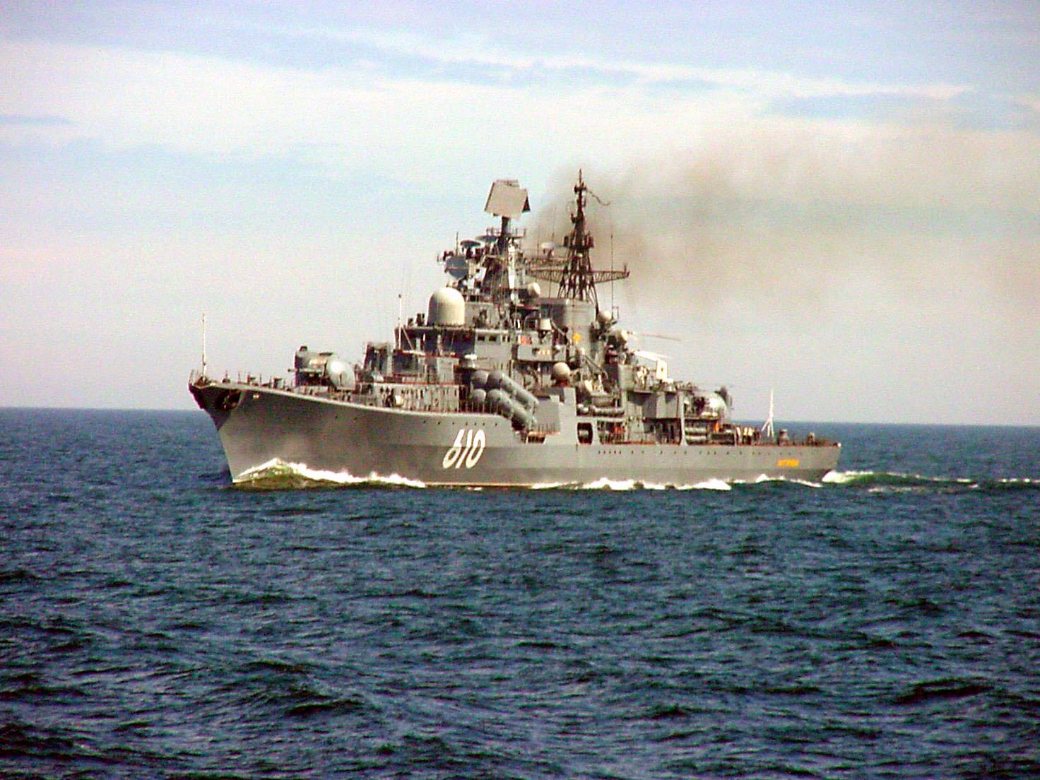 Niszczyciel Nastojcziwyj jest zupełnie przestarzały. Większość jednostek typu Sowriemiennyj już wycofano, a jego bliźniak z Floty Bałtyckiej – Biespokojnyj – pełni funkcję muzeum w Kronsztadzie. Fot. US Navy