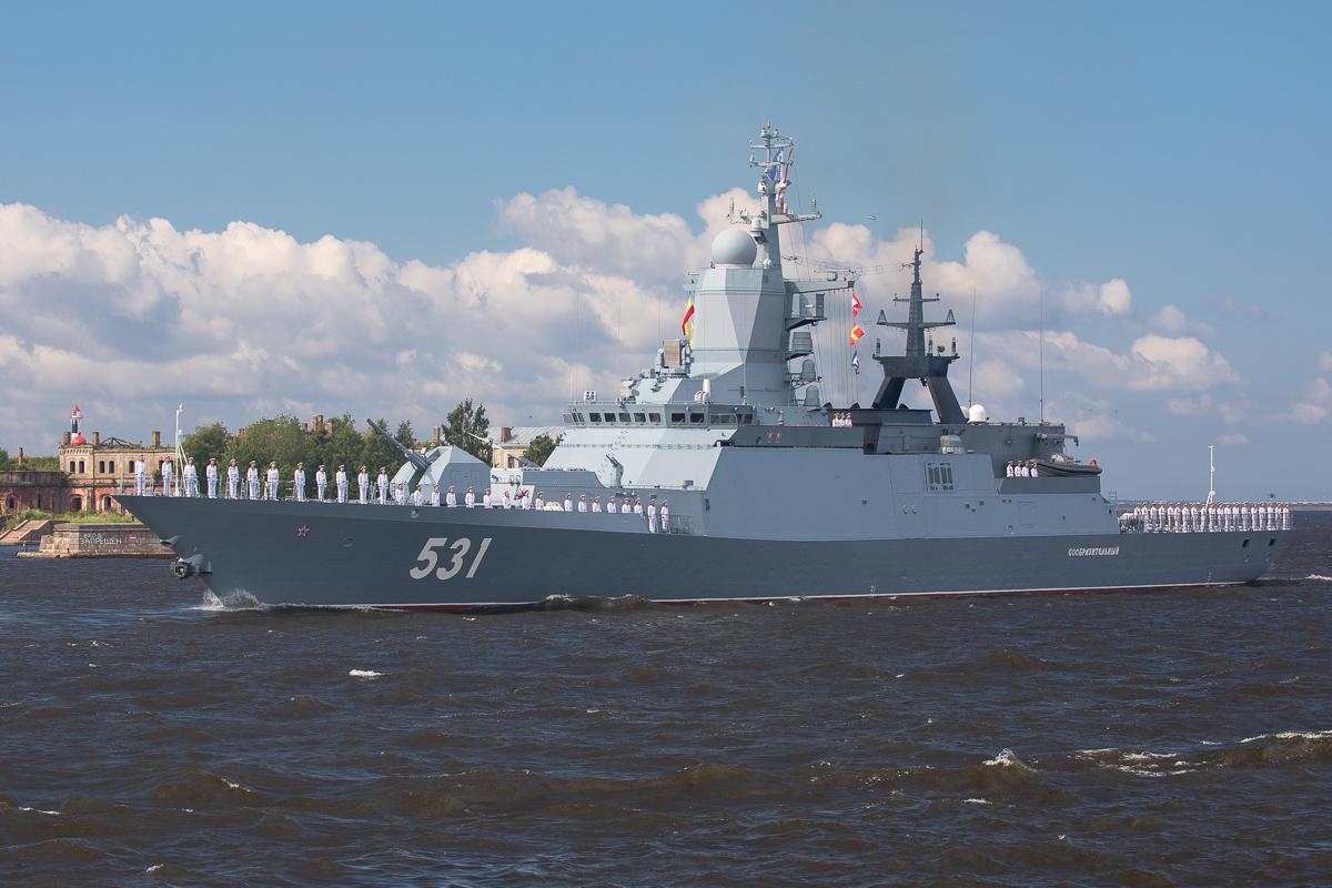 Soobrazitielnyj, druga z czterech nowoczesnych korwet typu Stierieguszczij służących na Bałtyku. Fot. MO FR.