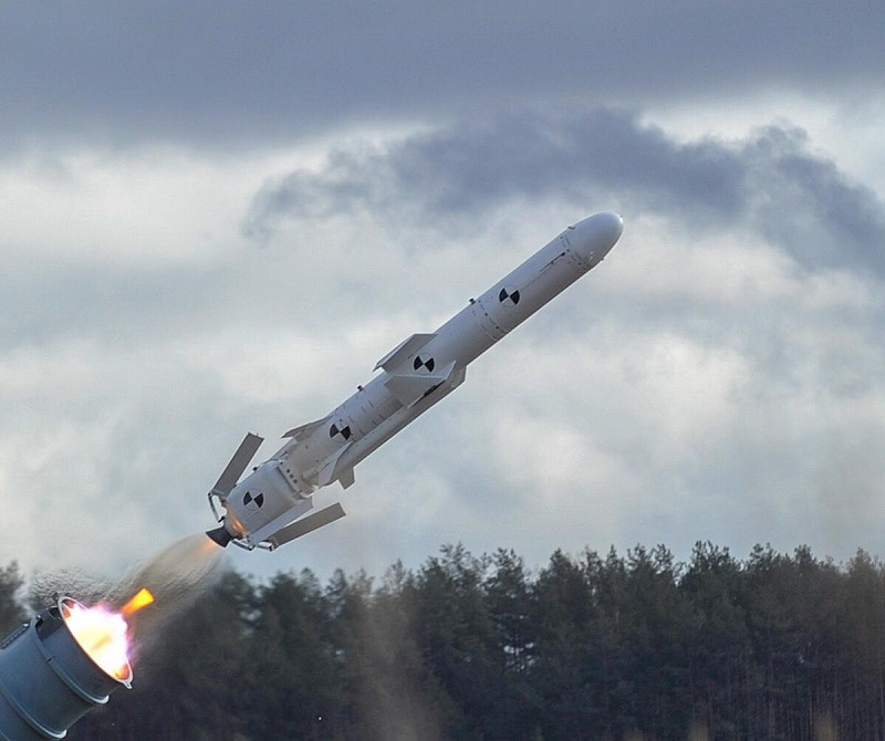 Odpalenie testowe pocisku Nieptun. Niedługo będzie on zasadniczym orężem Ukrainy na morzu. Fot. MO Ukrainy.