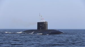 Rosyjski okręt podwodny w Syrii / Portal Stoczniowy
